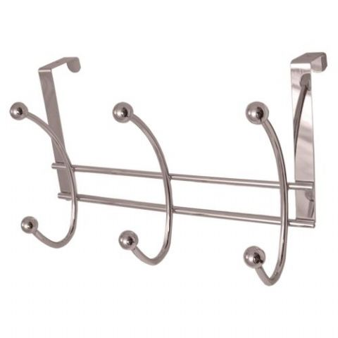 Headbourne 3 x 2 Chrome Ball Hooks Over Door Hanger